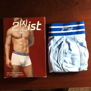 2xist Sport One No-Show Trunk Briefs Medium Blue